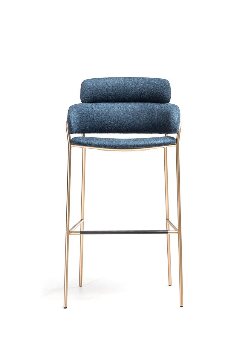 High Fabric Stool With Back Strike St By Arrmet