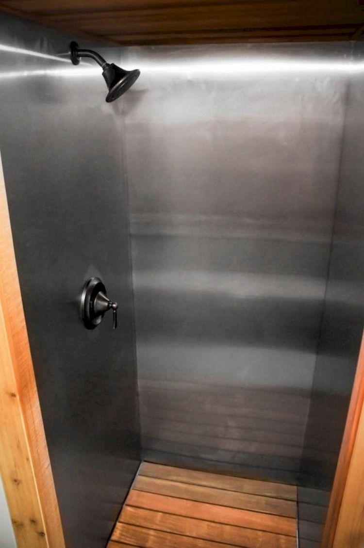 68+ Amazing Tiny House Bathroom Shower Ideas #tinyhousebathroom