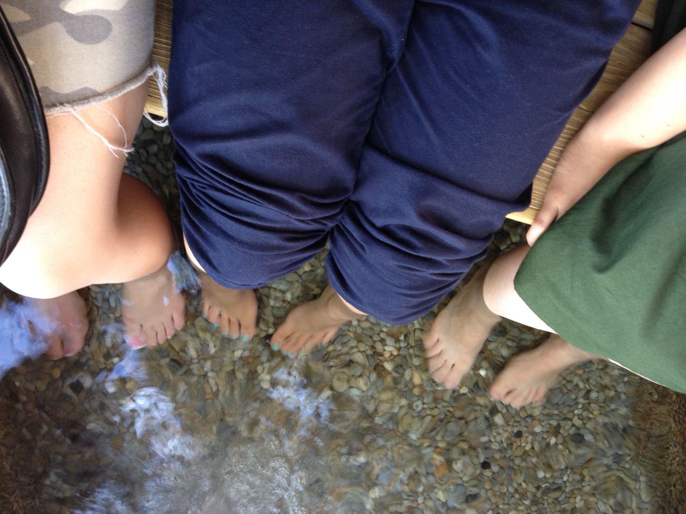和倉で足湯