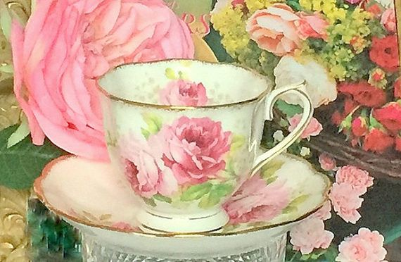Royal Albert Vintage American Beauty Rose Teacup by EnglandinaCup