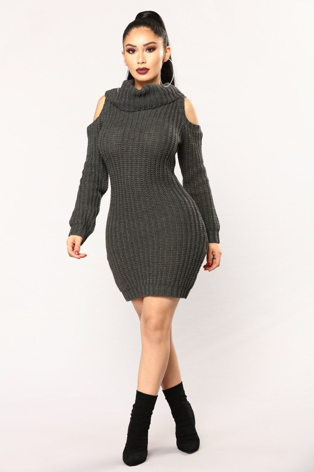 Thea Sweater Dress - Charcoal  d242dd6cc