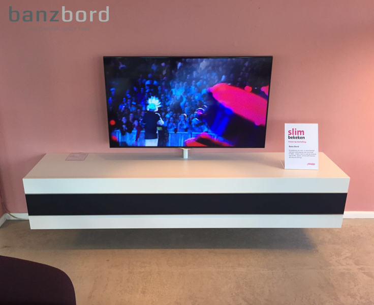 banz bord cloud tv meubel met tv standaard en ingebouwde hifi