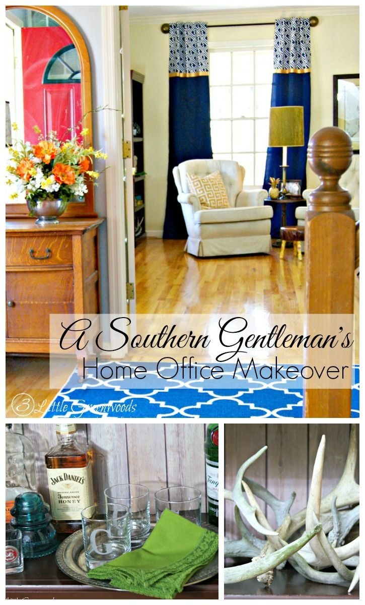 Do It Yourself Home Decorating Ideas: A Southern Gentleman's Home Office