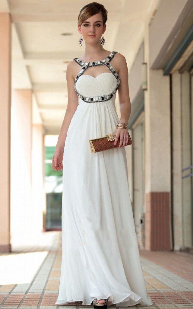 f239ee2dd Vestidos largos blancos ¡10 Outfits exclusivos!