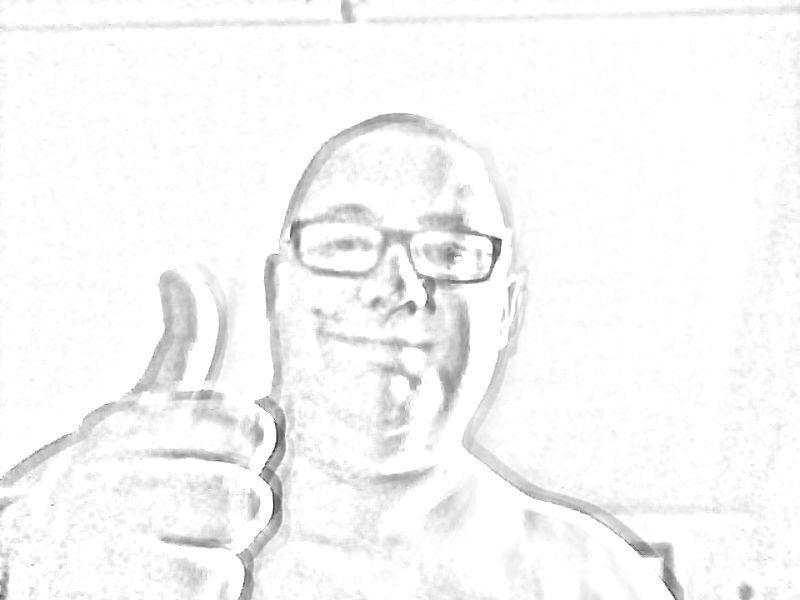 Un retrato via webcam,opción dibu.