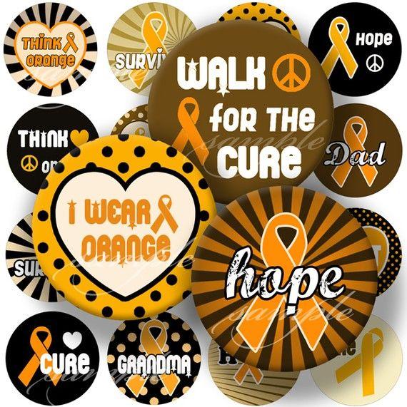 Leukemia Cancer Orange Ribbon