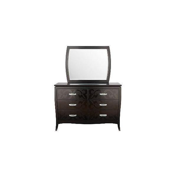 Belle Noir Dresser Mirror Rooms To
