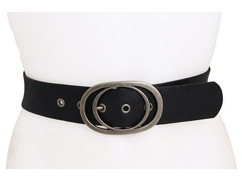 Wide Black Belt with an Oval Buckle #fashion