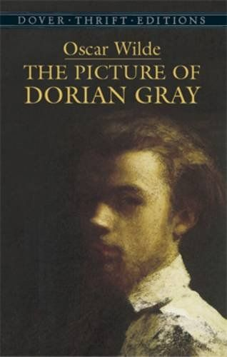The Picture of Dorian Gray (Dover Thrift Editions) by Oscar Wilde http://www.amazon.com/dp/0486278077/ref=cm_sw_r_pi_dp_2rW3vb13YKFRW