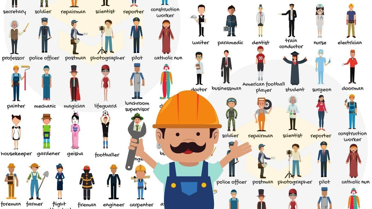 List of Jobs and Occupations Learn Different Types of