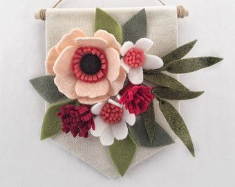 Mini Felt Wildflower Banner Flowers of the от HavenCharlotte