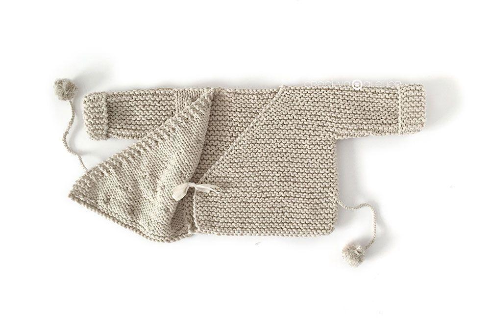Kimono de Punto para Bebé [ Tutorial y Patrón GRATIS ] | saquitos ...