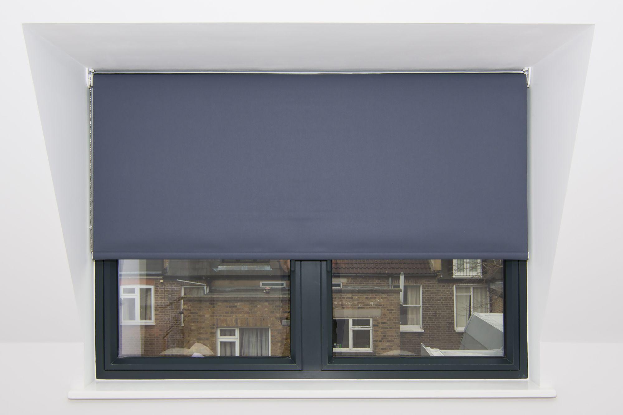 Blackout Bedroom Blinds Inspiration Blackout Roller Blind Installed Reverse Roll To Avoid Window Inspiration