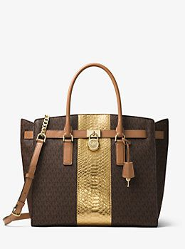 e4a7b993885a Hamilton Embossed-Leather and Logo Weekender | Badd Bag Swag ...