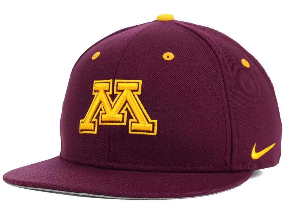 Minnesota Golden Gophers Nike NCAA Wool True College Fitted Cap ... 23f8c8d77832