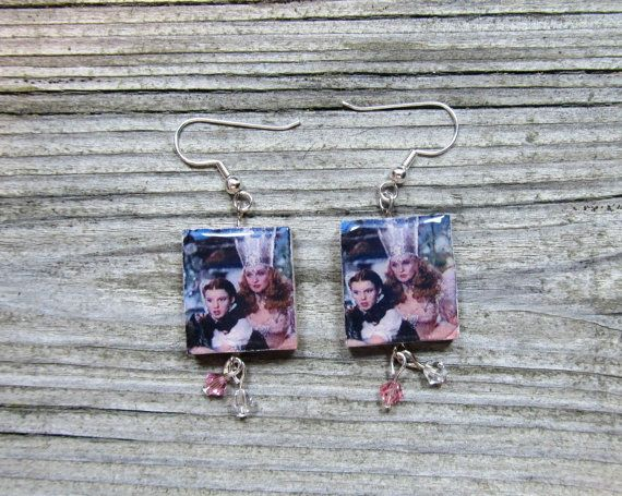 Wizard of Oz earrings with Swarovski crystals  by MontanaMagic