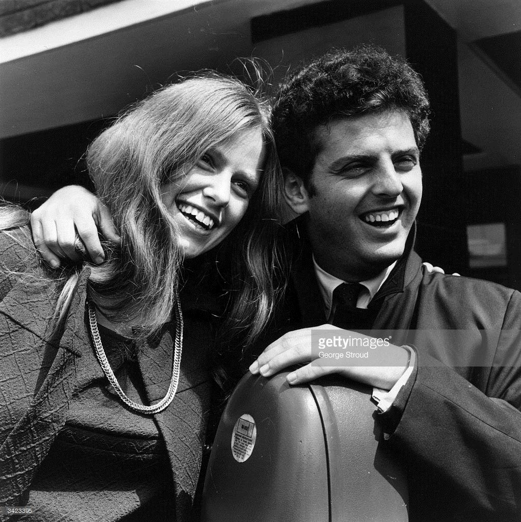 English cellist Jacqueline Du Pre (1945 - 1987) with her husband pianist Daniel Barenboim
