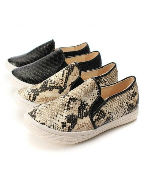 Spring Summer Casual Soft Snakeskin Shoes Women Flats | Scarpe