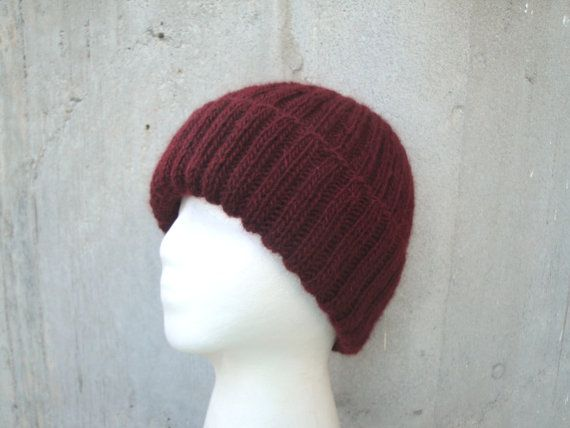 ddfc5e5dbca Cordovan Beanie Hat Watch Cap Men   Women Alpaca Wool by Girlpower ...