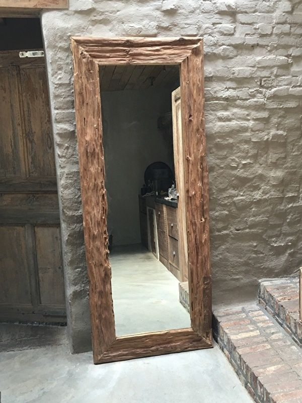 Turbo Zeer grove teakhouten spiegel lijst 200 x 80 cm   wonen  GI88