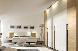 Kleiderschrank und Bett von Hülsta, Serie Cutaro