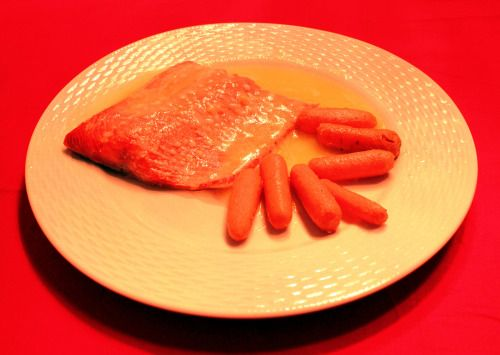 Studio Ghibli Porco Rosso Salmon and Baby Carrots with Lemon Butter Sauce