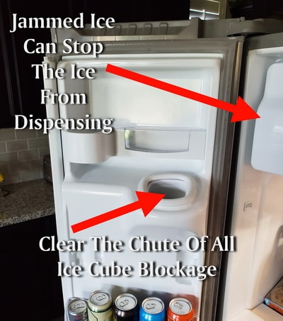 Ice Maker Not Working Ice Clumped In Ice Chute Ice Maker Refrigerator Brands Repair