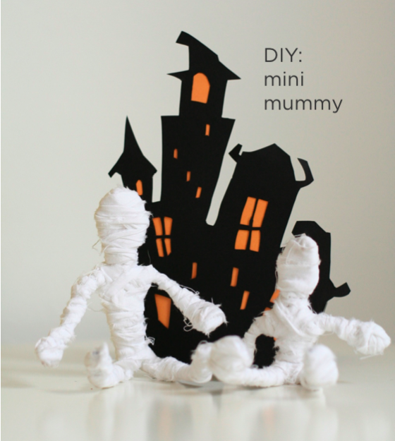 diy mini mummy halloween fall craftsideas - Halloween Mummy Crafts