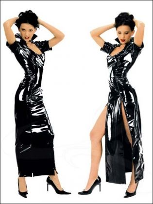 pin on sexy vinyl  leather dress