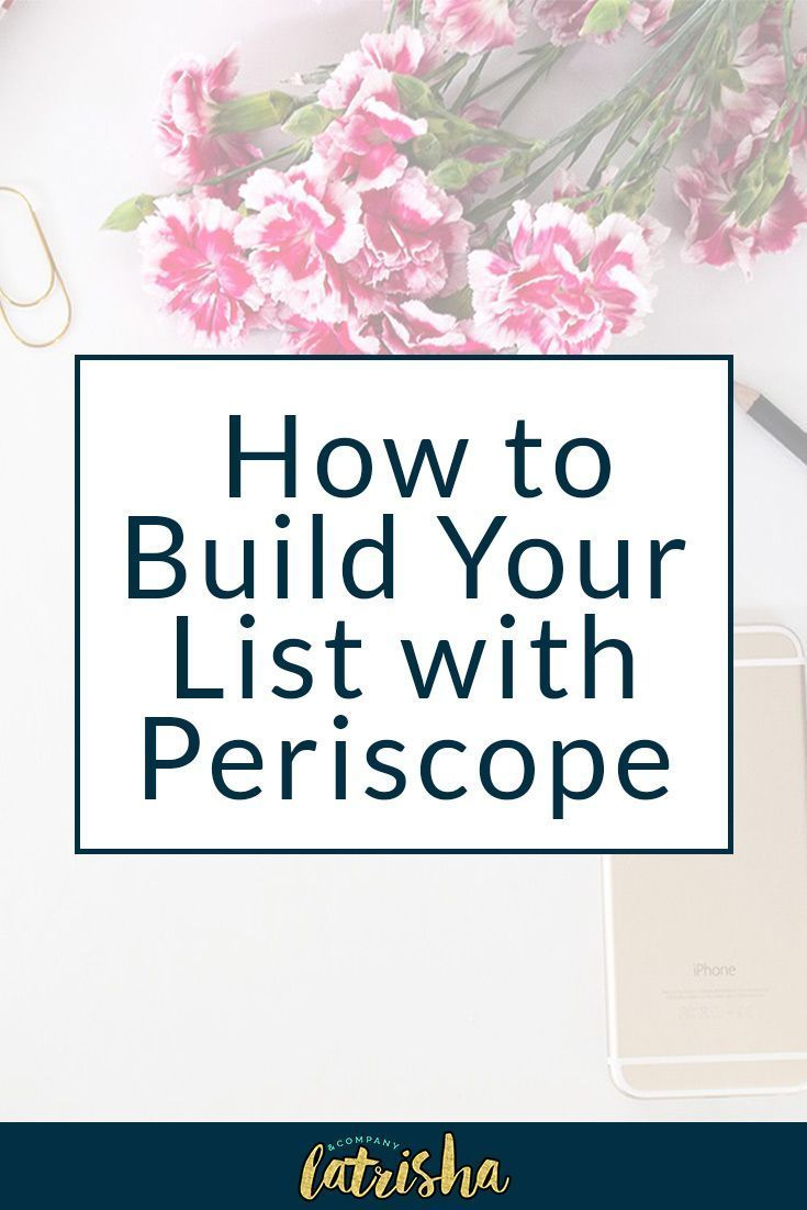 3 Creative Ways to Build Your Mailing List with Periscope | Periscope is such a great platform to begin marketing and growing your business on. If you're just getting started in business, it can really help you to establish your expertise and authority. If you want to know how to build your mailing list on Periscope and start to build your community, come on over.