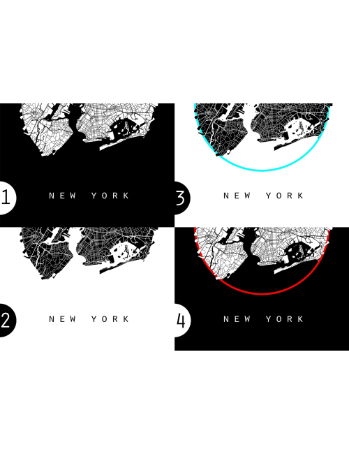 New York Map, America Map, World Map, Map of America, Black And ...