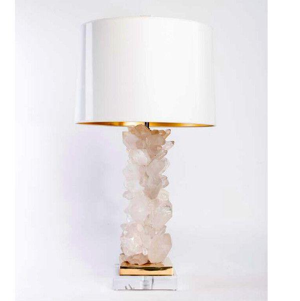 Quartz Table Lamp – White   White table lamp, Table lamp