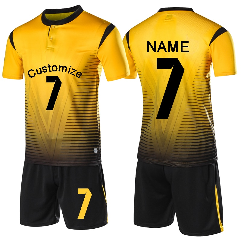 Black And Yellow Soccer Jersey Sale Soccer Store In 2020 Soccer Uniforms Design Soccer Outfits Football Shirts