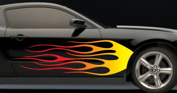 Flames Car Decals Car Decals Pinterest Car Decal And Cars - Custom car stickers and decals