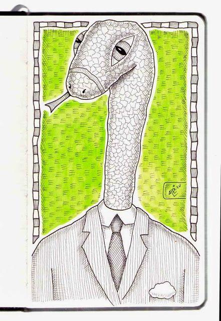 Ilustrador Alexiev Gandman: Hay una Serpiente en mi libreta Brügge