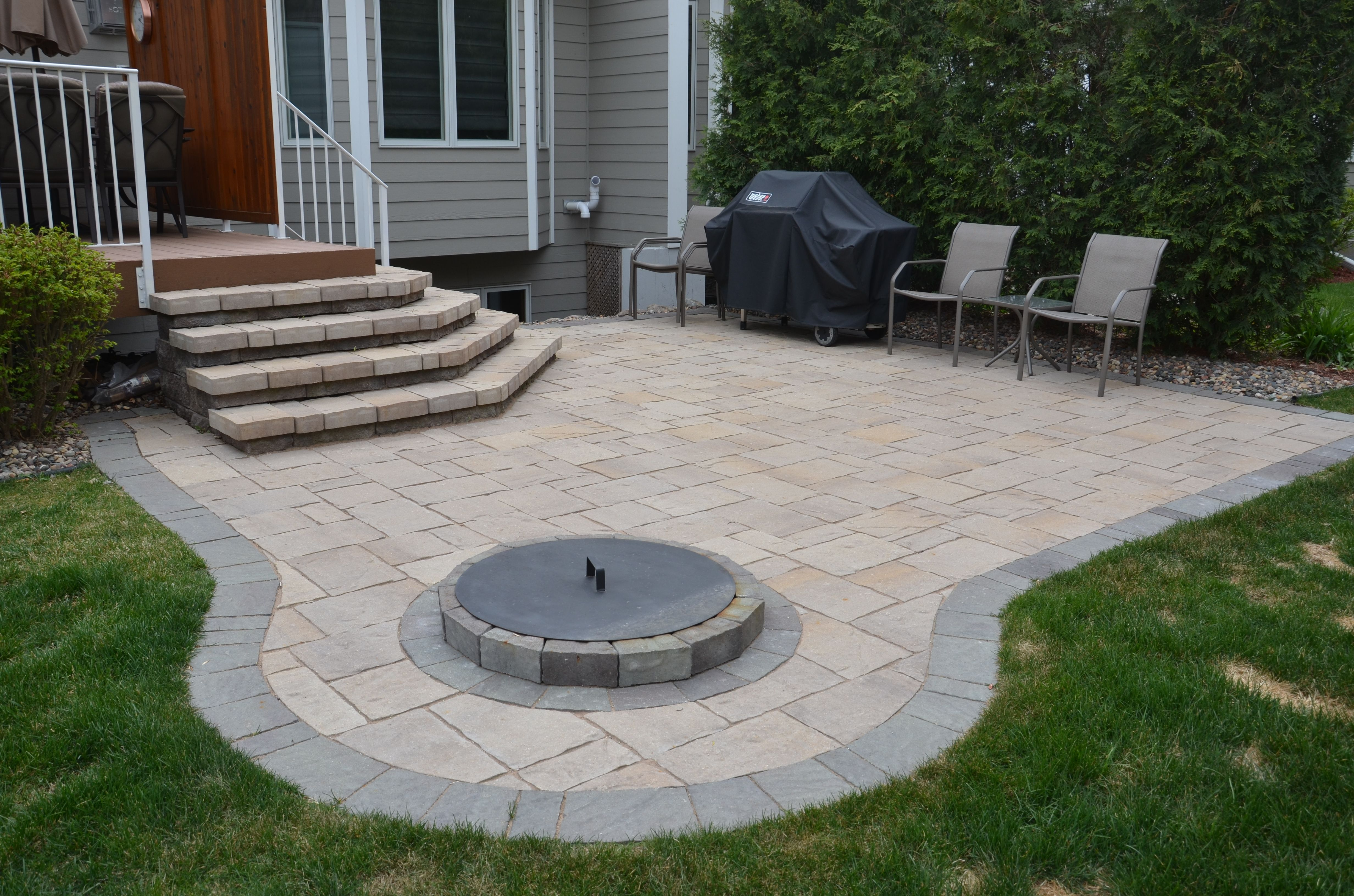 Paver Patio Designs With Fire Pit Amazing With Best Of ... on Paver Patio Designs With Fire Pit id=75434