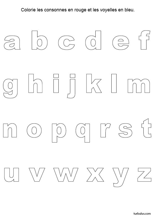 Exercice ludique, consonnes et les voyelles, minuscules d'imprimerie   Consonnes, Les voyelles ...