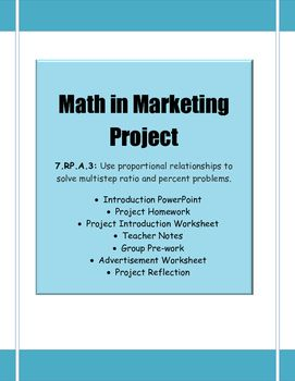 Ratio and Proportional Relationship Project | 7th Grade