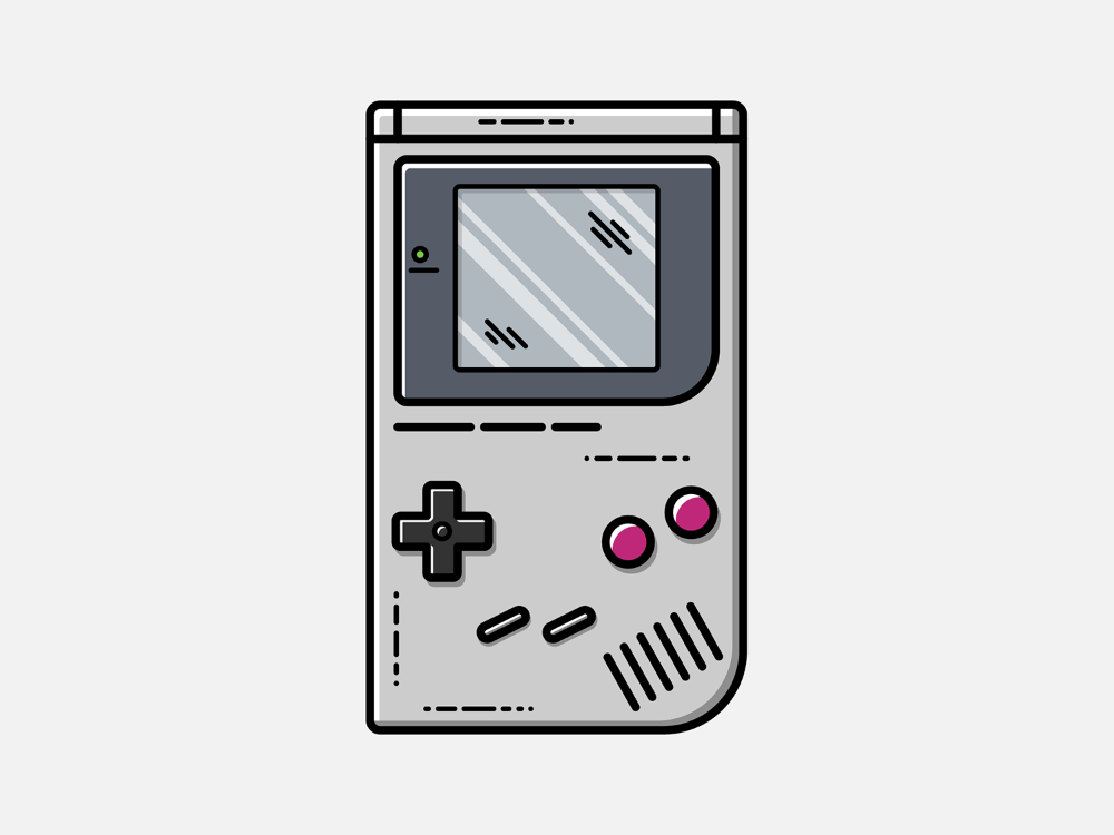 Game Boy Vector Illustration By Geoffrey Humbert On Dribbble Gameboy Games Vector Illustration