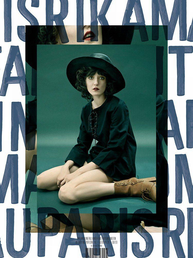 Rika Magazine #3 Irina Lazareanu by Marc Hom ART ARTWORK MAGAZINE COVER COMPOSITION VISUAL GRAPHIC MIXER DESIGN **