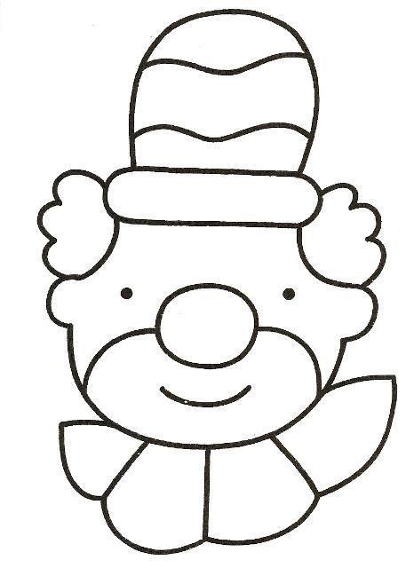 Kleurplaat Clown Kirstin Keraamat Pinterest Circus Crafts