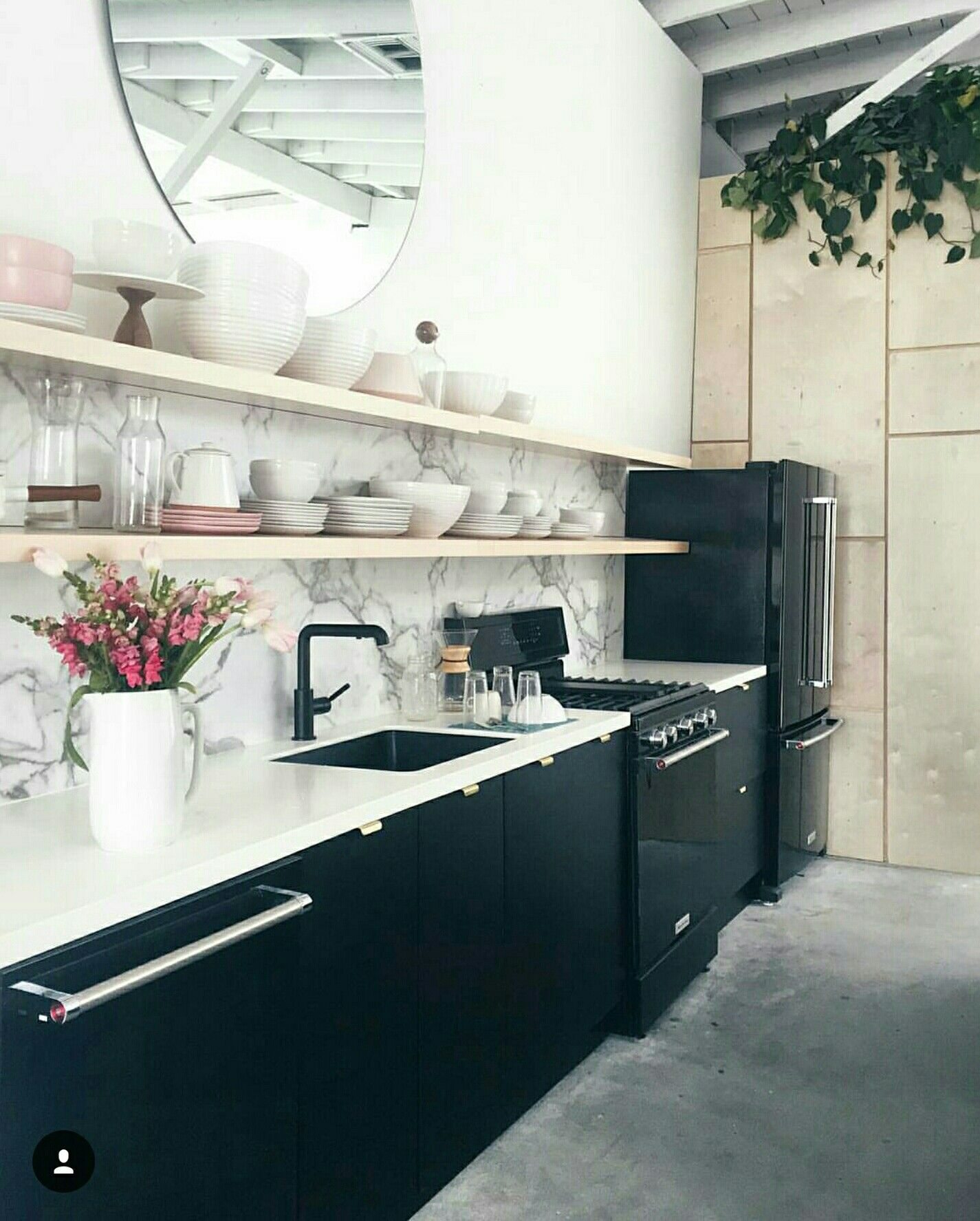 Semihandmade Black Supermatte Slab Doors for Ikea kitchen