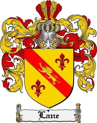 Lane Coat Of Arms Lane Family Crest Instant Download  For Sale