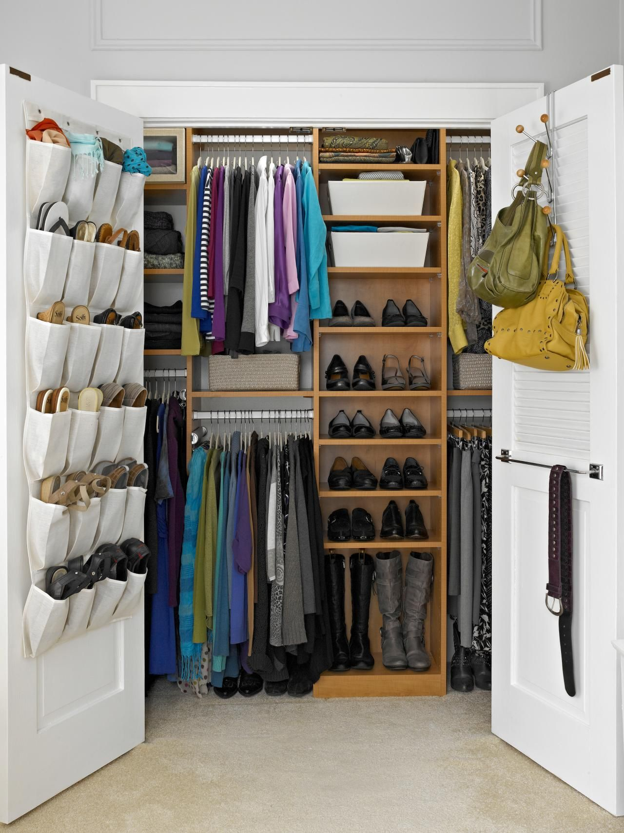 closet closets view mirrored transform door another makeover