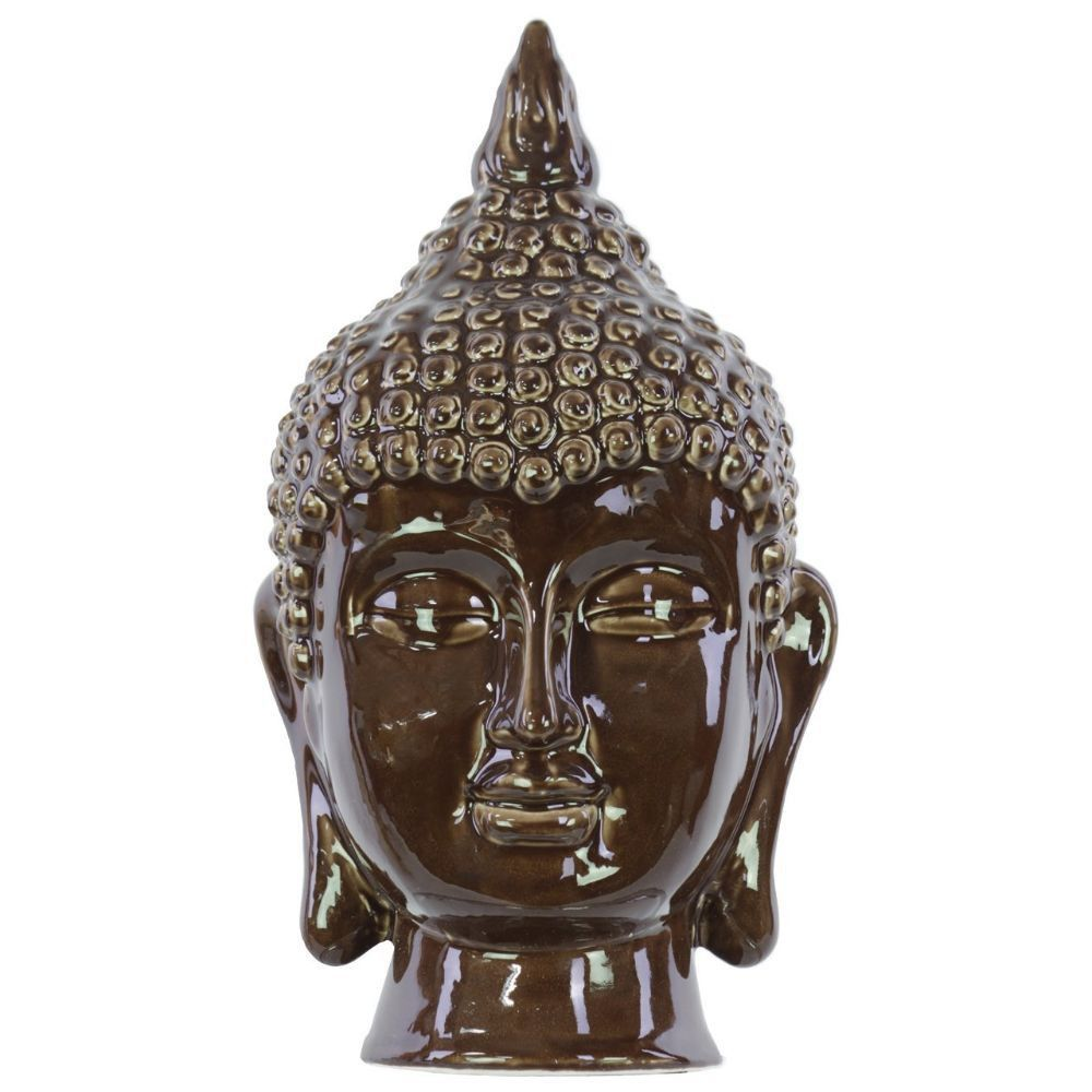 Buddha Head Decor Ceramic Buddha Head Decor Dark Chocolate This Buddha Head