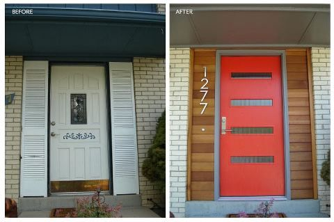 Mid Century Door Before And After