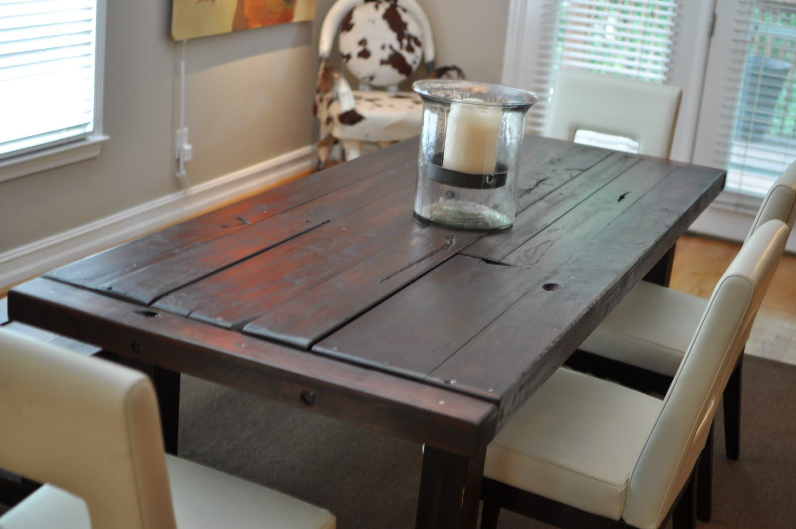 Handmade Furniture Tables The Clayton Custom Dining Table With Extra Distressing