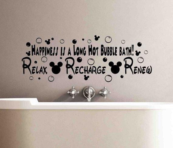 Happiness Is A Long Hot Bubble Bath Disney Sign Relax Recharge