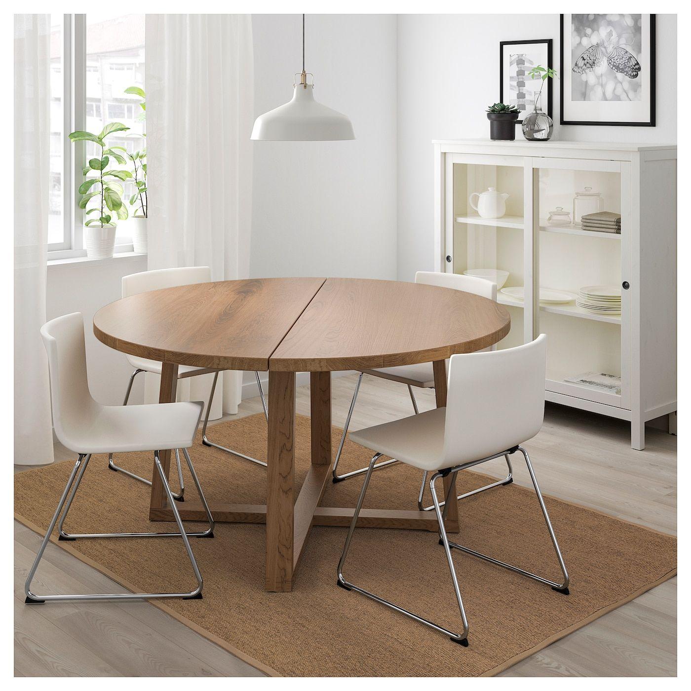 Morbylanga Bernhard Tisch Und 4 Stuhle Eichenfurnier Braun Las Mjuk Weiss Ikea Osterreich Ikea Produkte Ikea Spanplatte