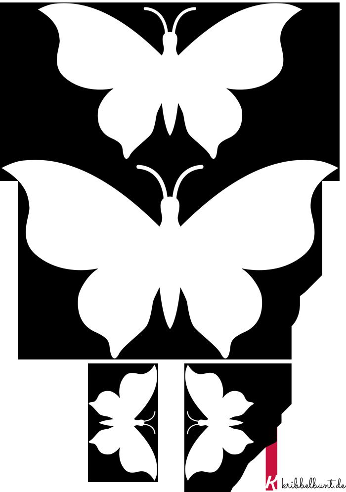 Diese Schmetterling-Bastelvorlage und weitere kostenlose ...